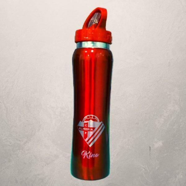 Botella roja personalizada